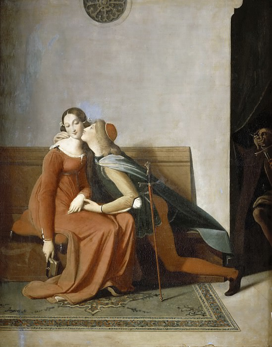 Paolo and Francesca. Jean Auguste Dominique Ingres