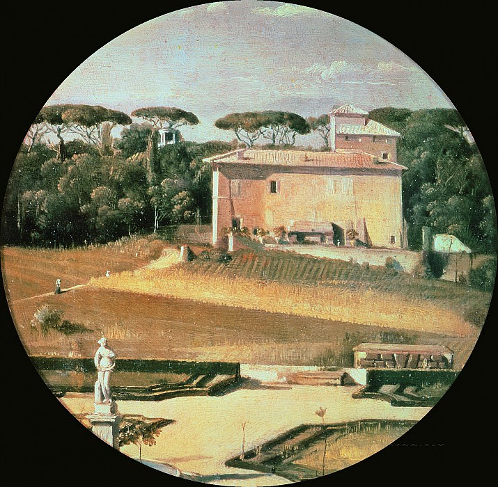 Raphaels casino seen from Villa Borghese in Rome. Jean Auguste Dominique Ingres