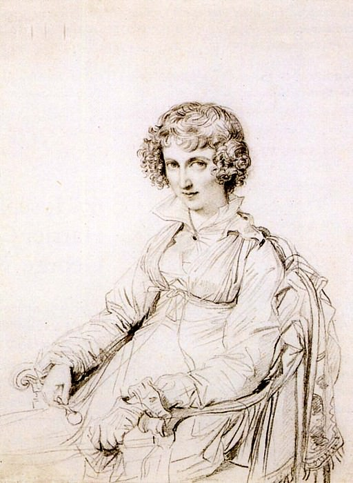 Ingres Mrs. Charles Thomas Thruston born Frances Edwards. Jean Auguste Dominique Ingres