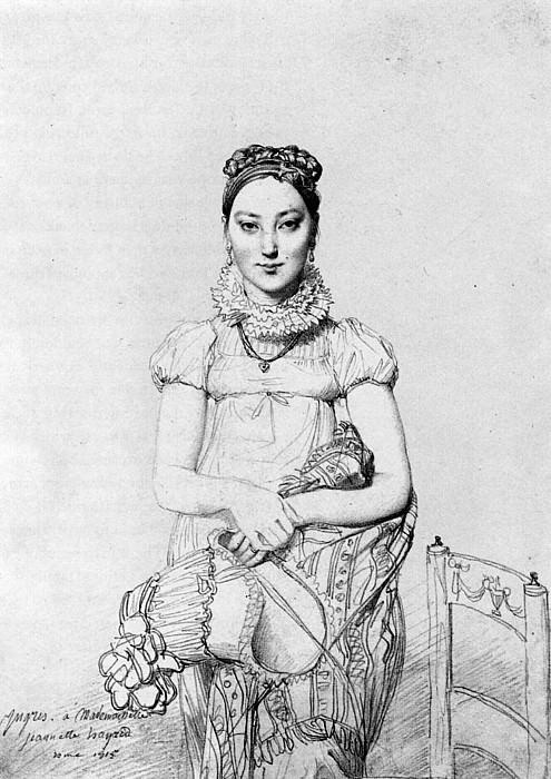 Ingres Mademoiselle Jeanne Hayard. Jean Auguste Dominique Ingres