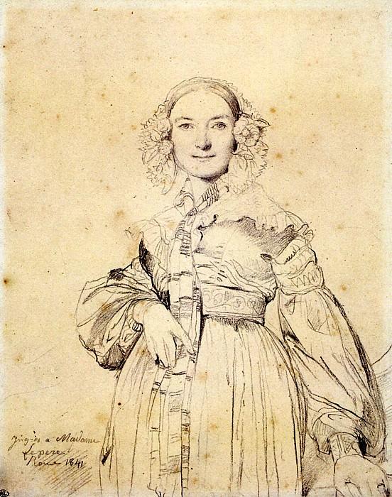 Ingres Madame Jean Auguste Dominique Ingres born Madeleine Chapelle5. Jean Auguste Dominique Ingres