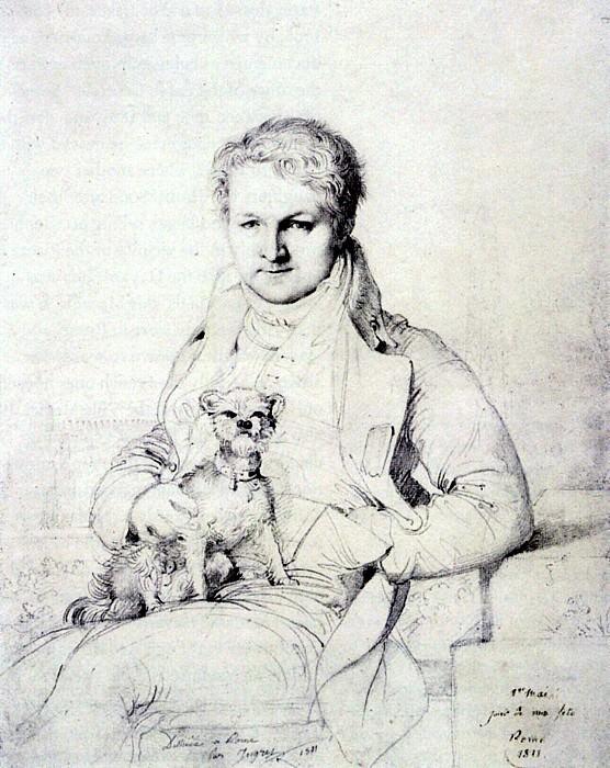 Ingres JJacques Marquet Baron de Montbreton de Norvins. Jean Auguste Dominique Ingres