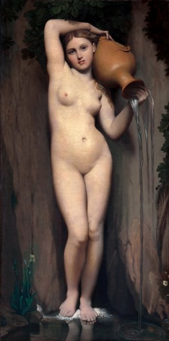 The source. Jean Auguste Dominique Ingres