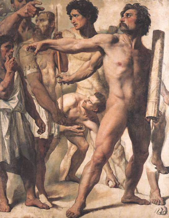 Study for The Martyrdom of St Symphorien. Jean Auguste Dominique Ingres
