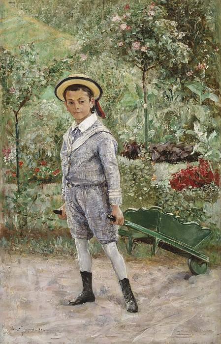 Boy with a Wheelbarrow. Ernst Josephson