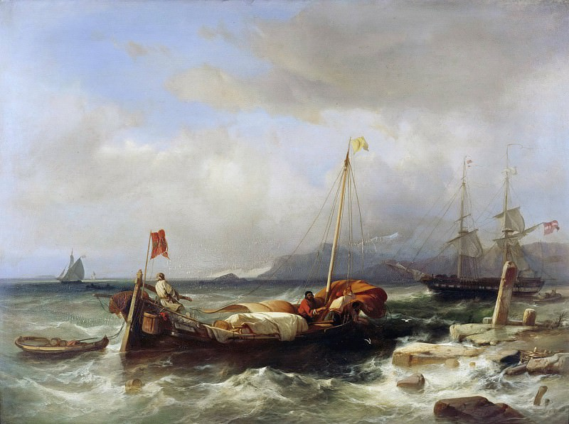 Greek sea with sailing ships. Jacob Jacobs