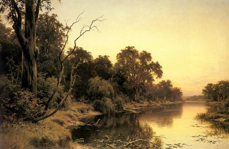 Johnstone Henry James A Backwater Of The River Murray South Australia. Генри Джеймс Джонстон