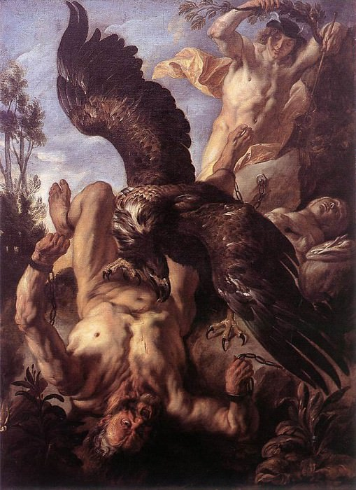 Prometheus Bound. Jacob Jordaens