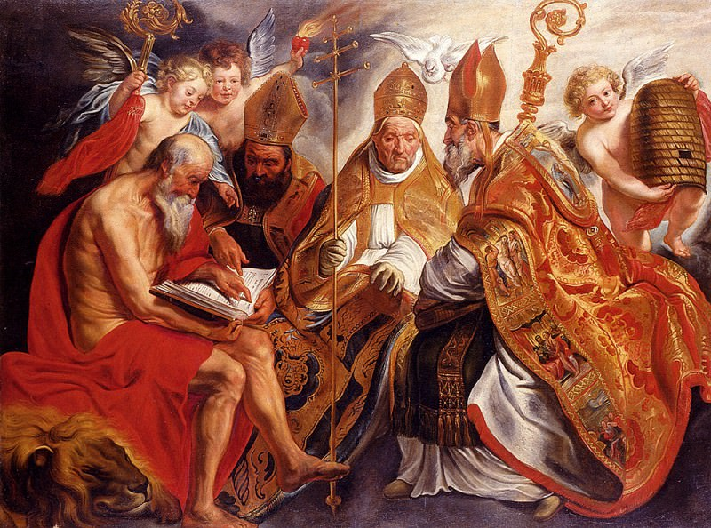 The Four Fathers Of The Latin Church. Jacob Jordaens