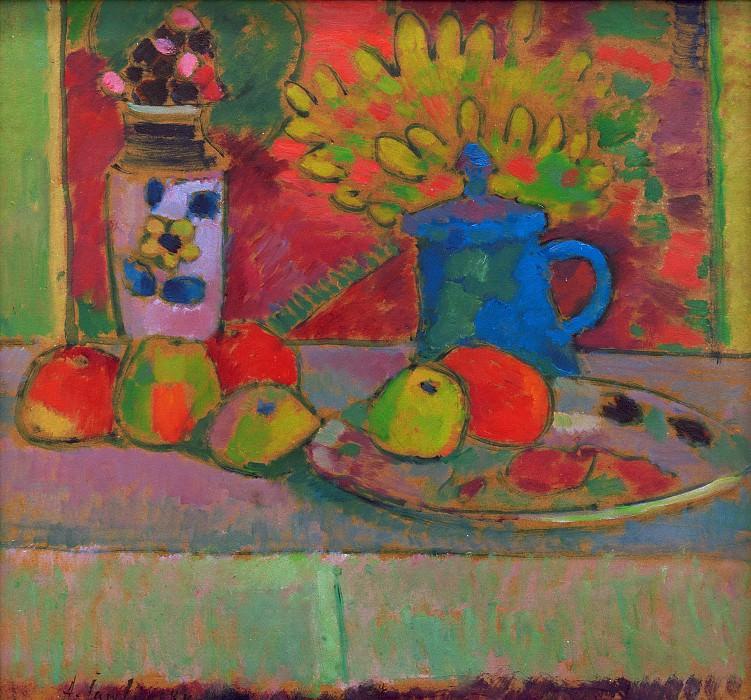 Натюрморт с цветами и фруктами. Алексей фон Явленский