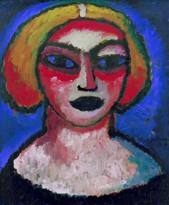 Womans head. Alexej Jawlensky