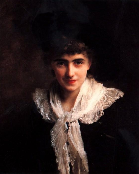 Portrait of a Gentlewoman. Gustave Jean Jacquet