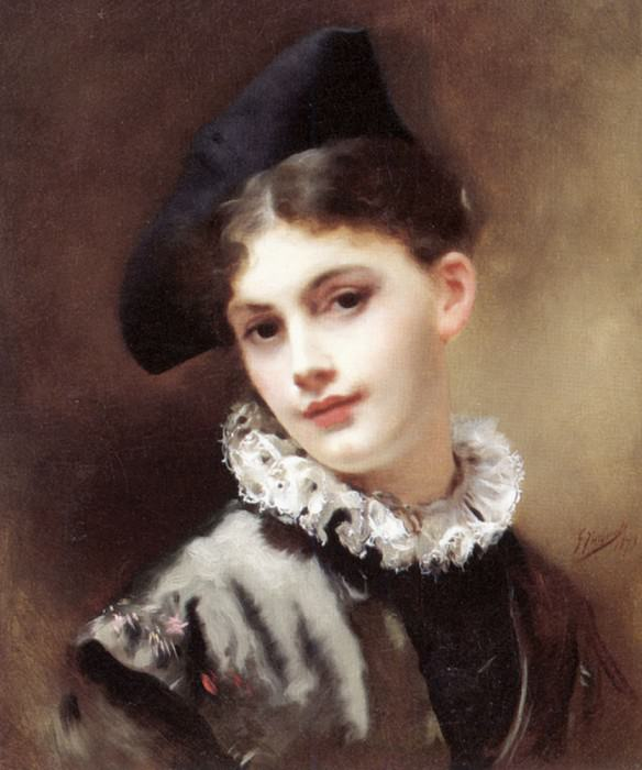 A Coquettish Smile. Gustave Jean Jacquet