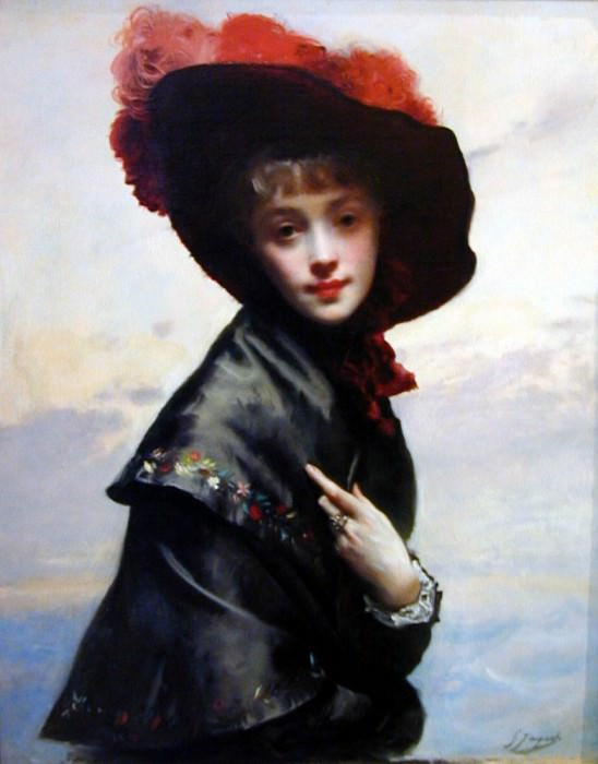 La Coquette. Gustave Jean Jacquet