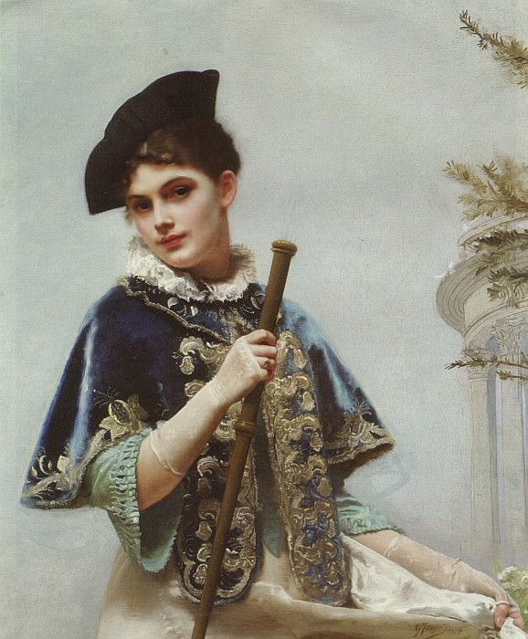 A Portrait of a Noble Lady. Gustave Jean Jacquet