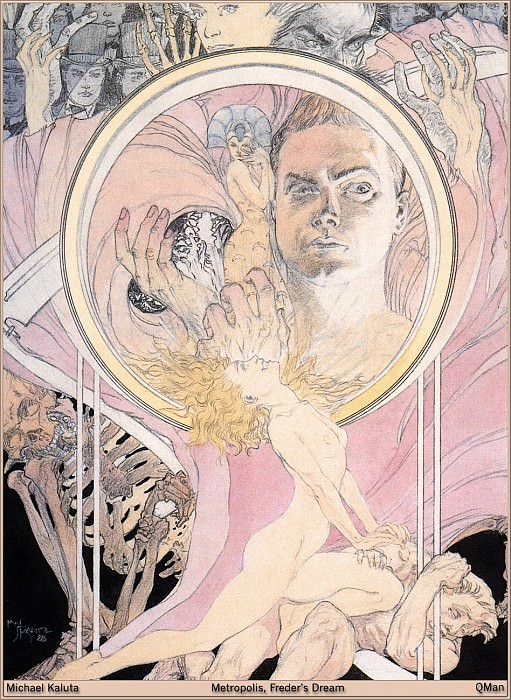 Metropolis-Freders Dream. Micheal Kaluta