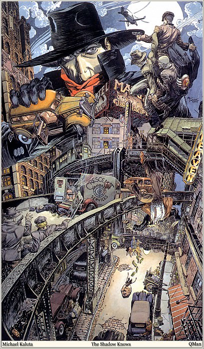 The Shadow Knows. Micheal Kaluta