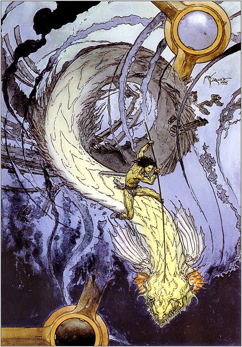 Jared And The Water Worm. Micheal Kaluta