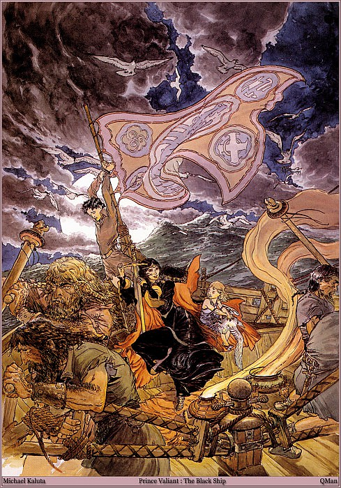 Prince Valiant The Black Ship. Micheal Kaluta