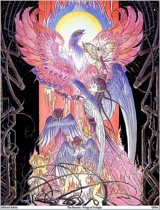 The Phoenix Wings of Twilight. Micheal Kaluta