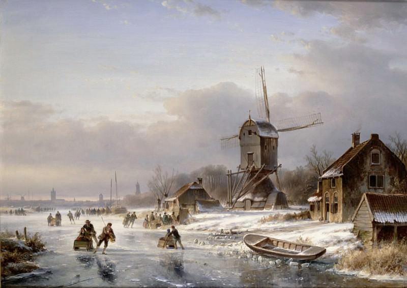 A Winter Landscape. Lodewijk Johannes Kleijn