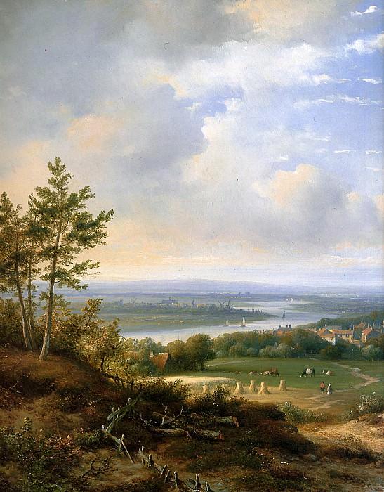 Kleijn Lodewijk Panoramic landscape Sun. Lodewijk Johannes Kleijn (detail)