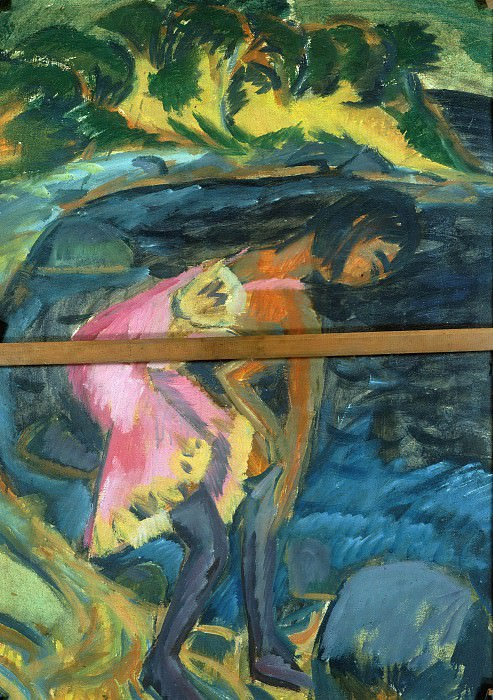 Girl at Strand. Ernst Ludwig Kirchner