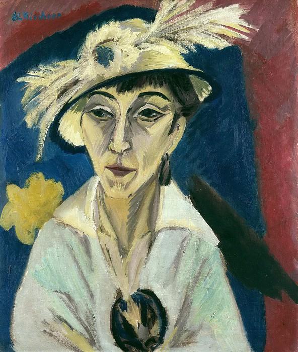 Portrait of Erna Schilling. Ernst Ludwig Kirchner