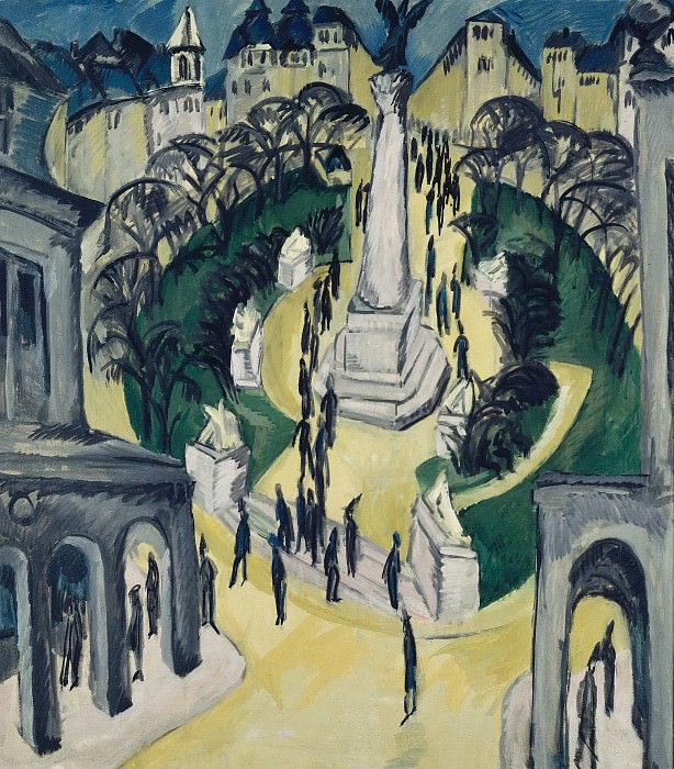 The Belle-Alliance-Platz in Berlin. Ernst Ludwig Kirchner