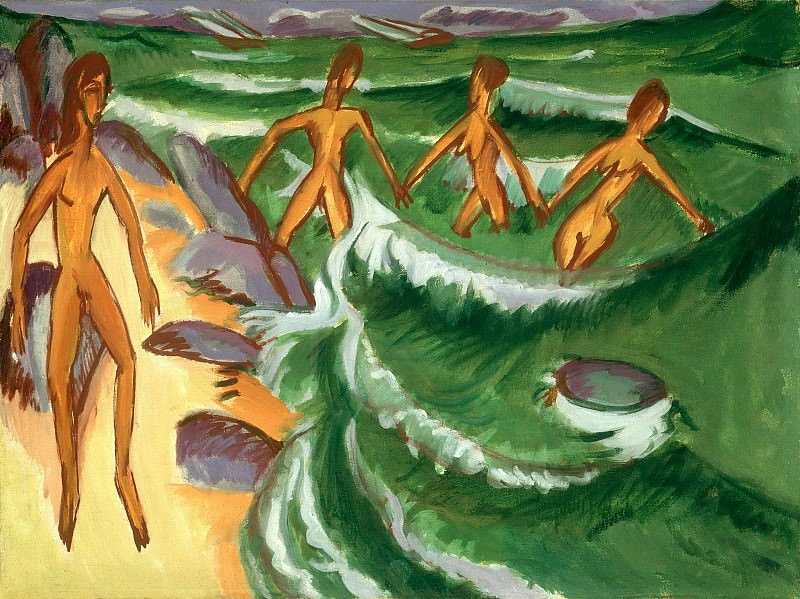 Bathers at the Beach. Ernst Ludwig Kirchner