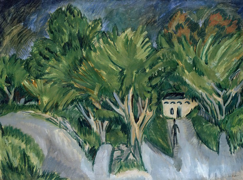 House among trees. Ernst Ludwig Kirchner