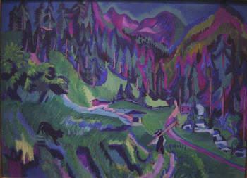 1924 Sertig Valley Landscape. Ernst Ludwig Kirchner