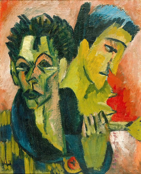 Self Portrait with Girl. Ernst Ludwig Kirchner