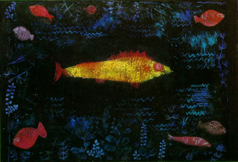 The goldfish, 1925, Oil and watercolor on paper, mounte. Paul Klee