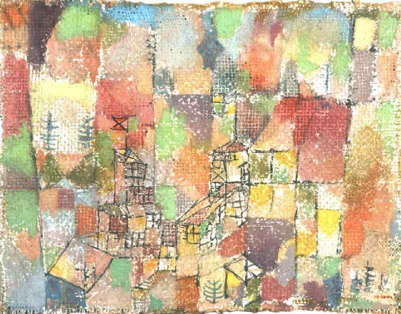 Two country houses, 1918, Collection Dr. Charlotte Weid. Paul Klee