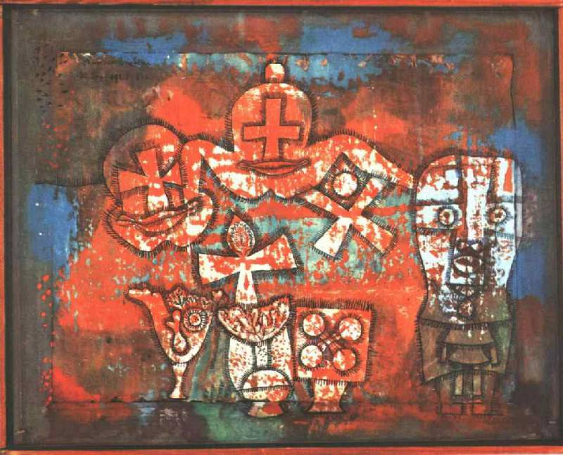 Chinese porcelain, 1923, Collection Mr. and Mrs. Werner. Paul Klee