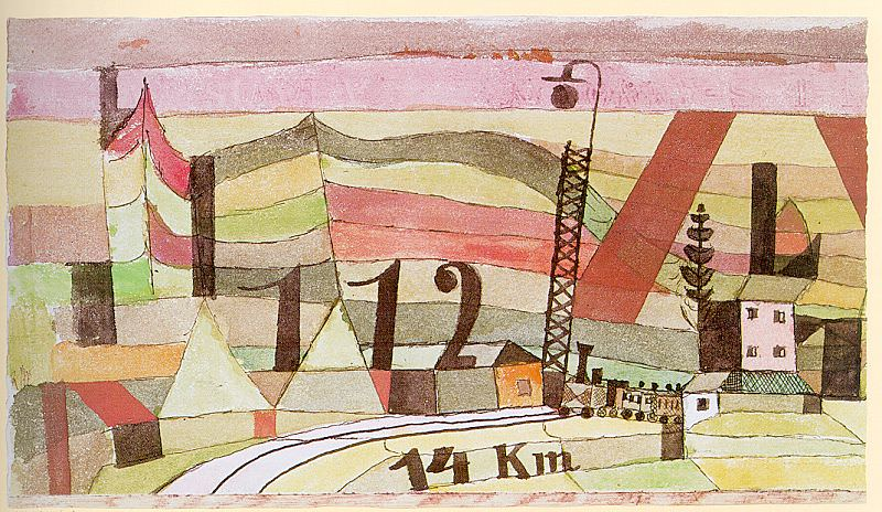 Station L 112, watercolor and India ink on paper mounte. Paul Klee