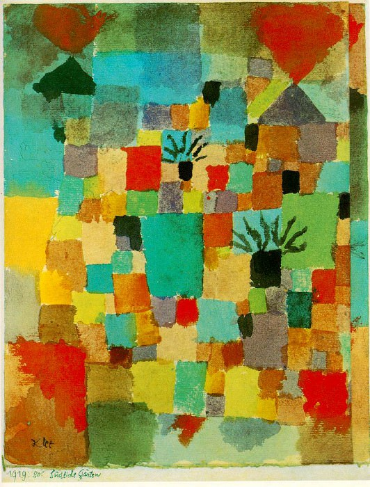 Southern (Tunisian) gardens, 1919, Watercolour, Collect. Paul Klee