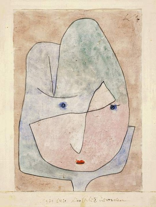 This flower wishes to fade, 1939, Watercolor on paper,. Paul Klee