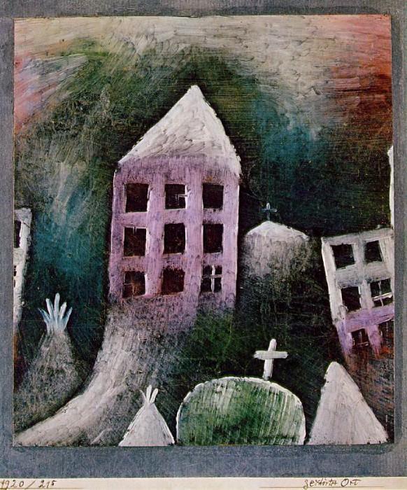 Разрушенный город, 1920. Пауль Клее
