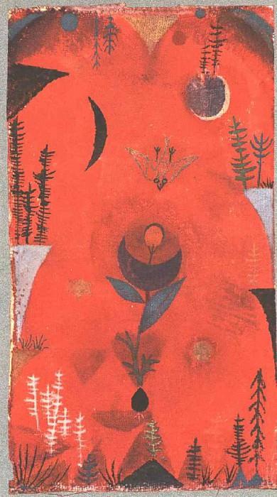 Миф цветов, 1918. Пауль Клее