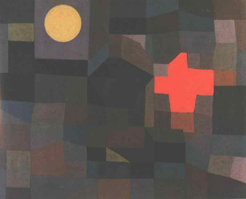 Fire at full moon, 1933, Folkwang Museum, Essen. Paul Klee