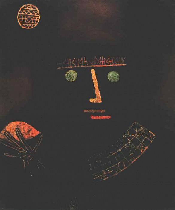 Черный рыцарь, 1927, Кол. Земли Северный Рейн-Вестфалия. Пауль Клее