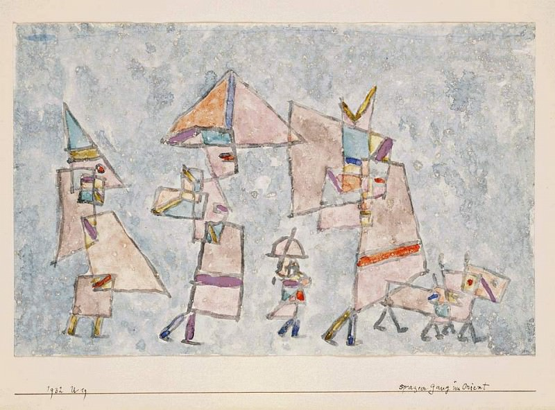 Promenade in the Orient, 1932, Watercolor on paper, Bar. Paul Klee