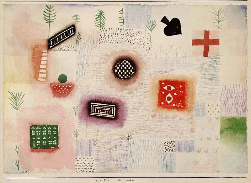 Garden signs, 1926, Watercolor on paper, Barnes foundat. Paul Klee