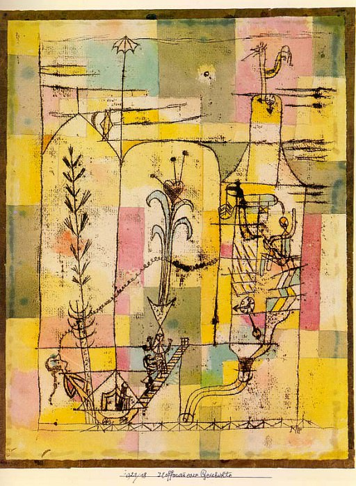 Tale a la Hoffmann, 1921, watercolor on paper mounted o. Paul Klee