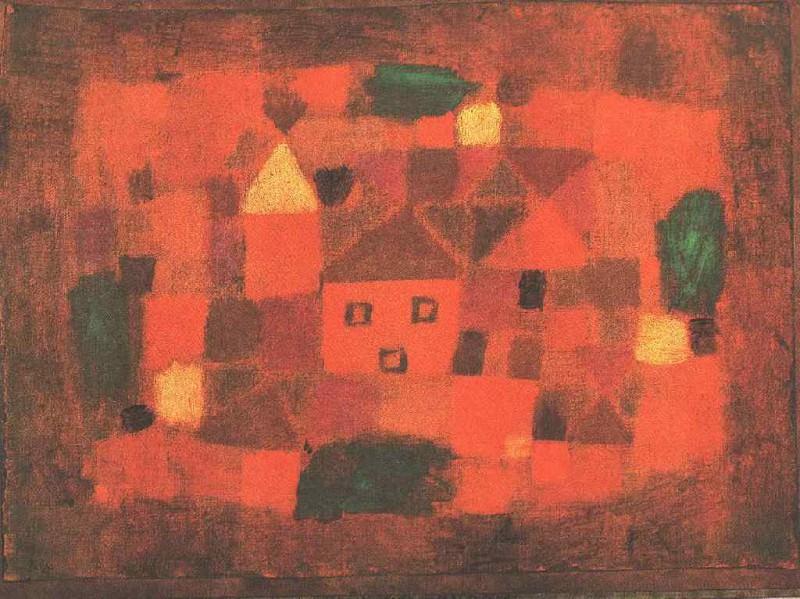 Пейзаж на закате, 1923. Пауль Клее