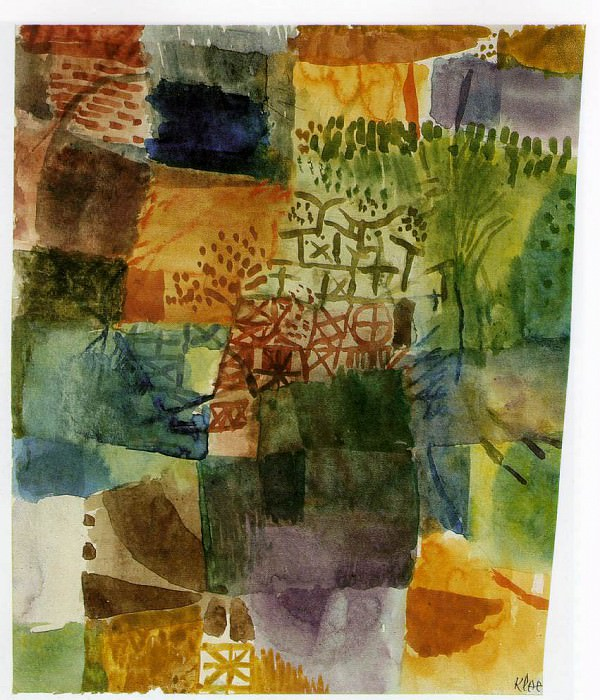Remembrance of a garden, 1914, Watercolour, 25.2x21.5 c. Paul Klee
