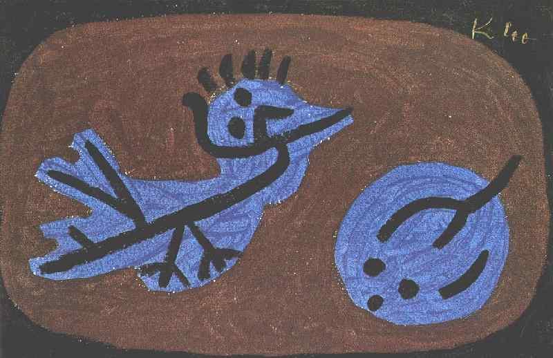 Blue-bird-pumpkin, 1939, Collection Heinz Bergguen, Par. Paul Klee