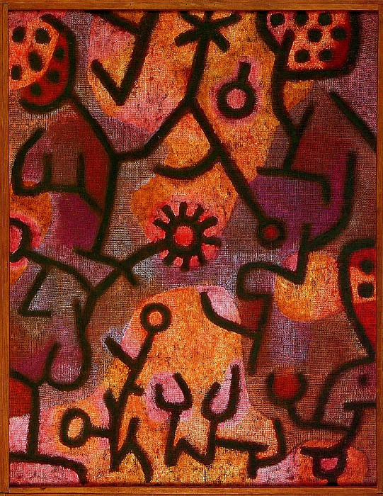 Flora on rocks. Paul Klee